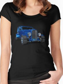 Blue Ford Hot Rod Women's Fitted Scoop T-Shirt