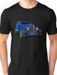 Blue Ford Hot Rod Unisex T-Shirt