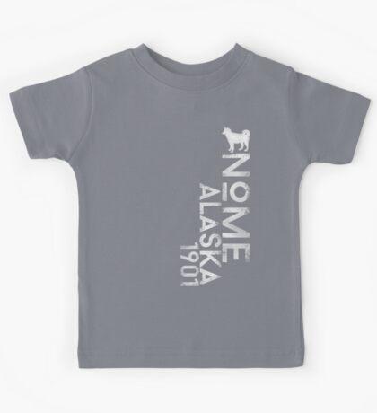 Nome, Alaska (White Silhouette Version) Kids Tee