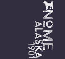 Nome, Alaska (White Silhouette Version) Unisex T-Shirt