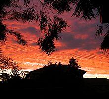 orange stormclouds by thanatos