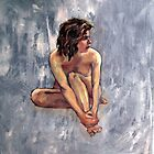 Female nude, oil painting on canvas  by Roz McQuillan