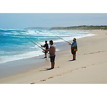 Beach Fishing Photographic Print