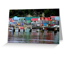 Hobart Fishing Shacks Greeting Card