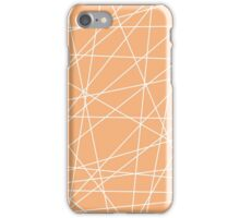 Peach White Abstract Stripes iPhone Case/Skin
