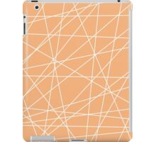 Peach White Abstract Stripes iPad Case/Skin