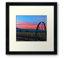 The Old Rake at Sunset Framed Print