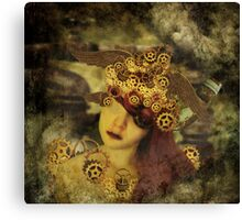 The clockwork tells me what to see Canvas Print