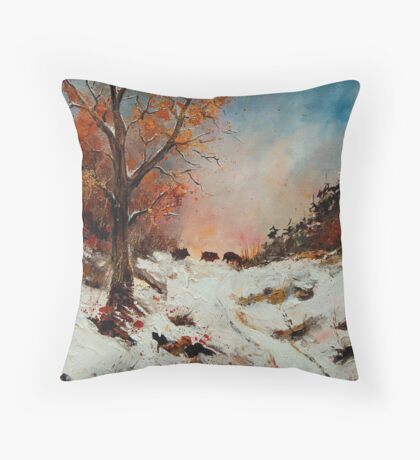 Wild boars Throw Pillow