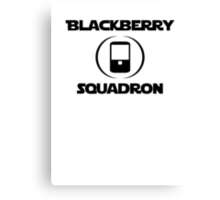 BlackBerry Squadron (Black) Canvas Print