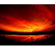 Mystery sunset... Photographic Print