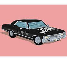 SuperWhoLocked in the Impala Photographic Print