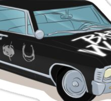 SuperWhoLocked in the Impala Sticker