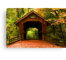 Covered Bridge,Little Hope Wisconsin  Canvas Print
