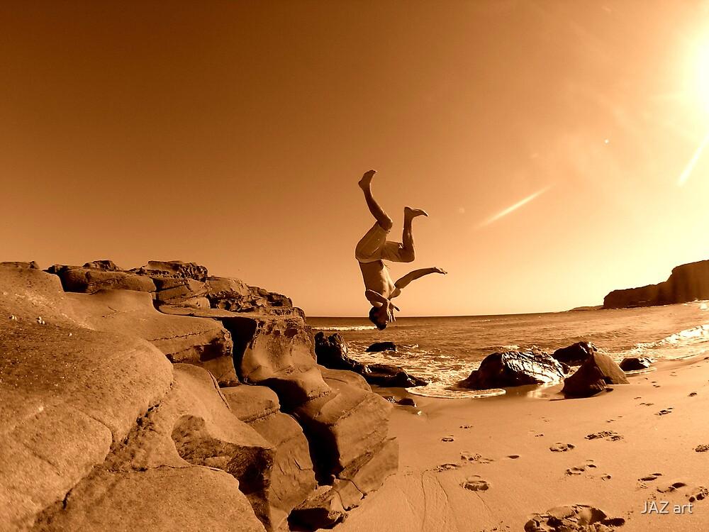 Beach Back Flip... by JAZ art
