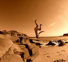 Beach Back Flip... by JAZ art
