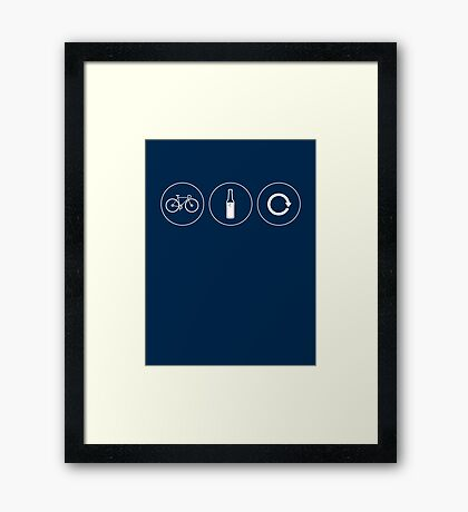 Ride. Relax. Repeat. Framed Print