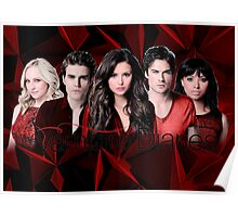The Vampire Diaries Cast | Red Poster