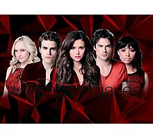 The Vampire Diaries Cast | Red Photographic Print
