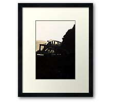 Trail into the light Framed Print