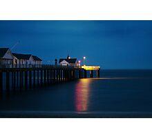 Late night beach pier. Photographic Print