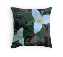 Wild Flowers Throw Pillow