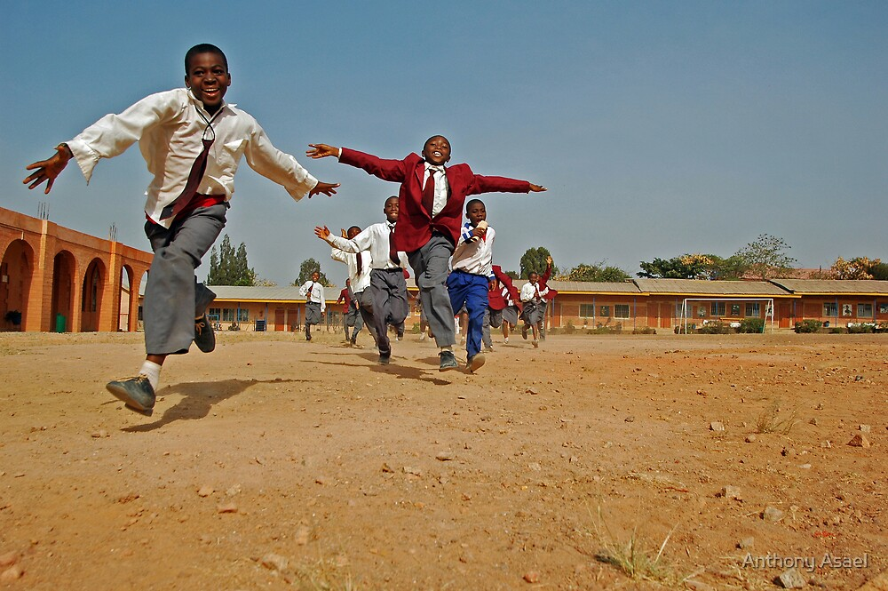 Flying Kids in Nigeria by Anthony Asael