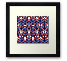 cascade - red/white/blue Framed Print