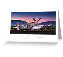 "P-51 Mustang ""Sizzlin Liz"" Greeting Card"