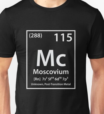 Moscovium Element Unisex T-Shirt