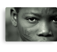 Scarification in Africa Canvas Print