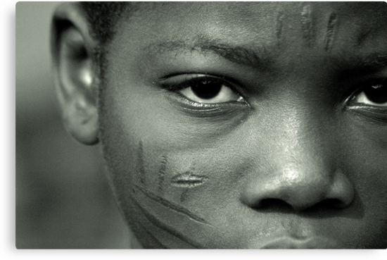 Scarification in Africa by Anthony Asael