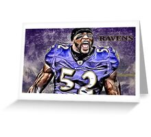 NFL Baltimore Ravens Legend Ray Lewis Greeting Card