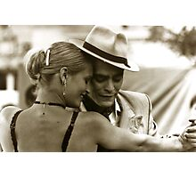 Tango dancing Photographic Print