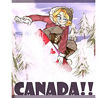 snowboarding mr canada! Photographic Print