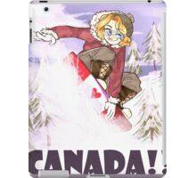 snowboarding mr canada! iPad Case/Skin