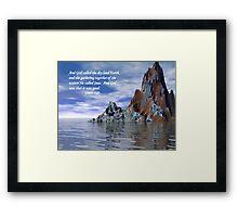 Genesis 1:10 Framed Print