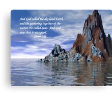 Genesis 1:10 Canvas Print