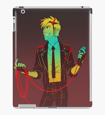 red wire iPad Case/Skin