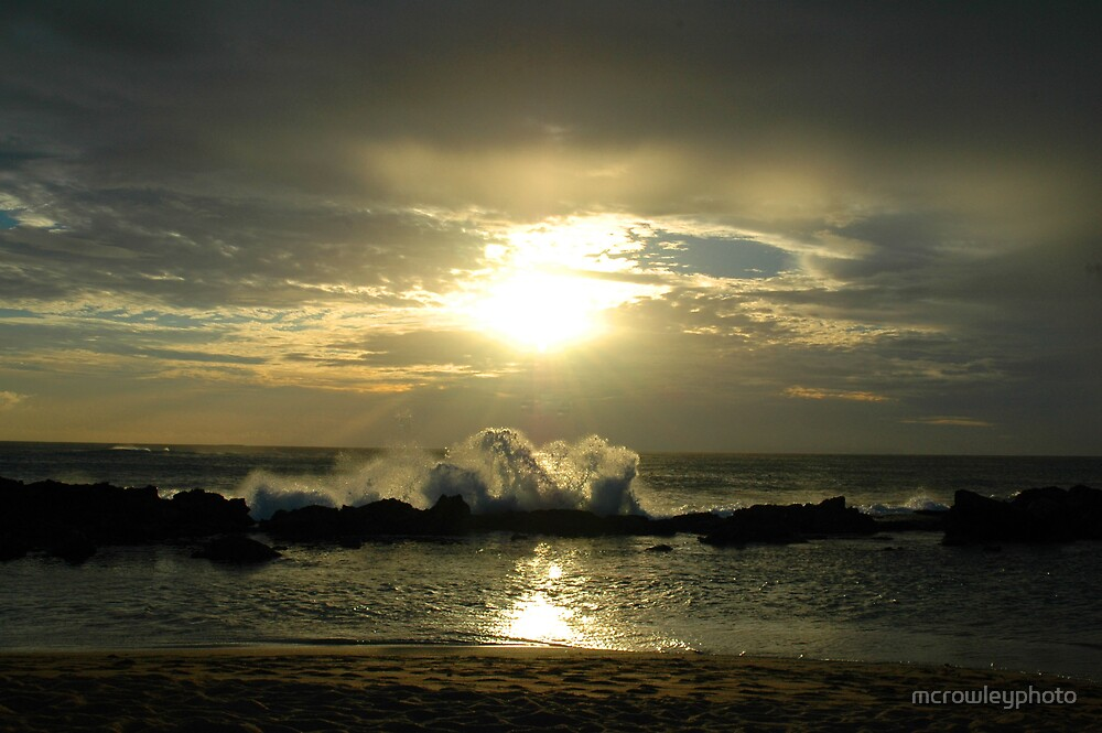 Ocean and Sun by mcrowleyphoto