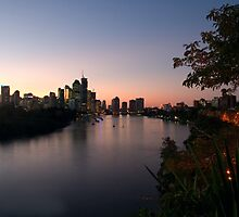 Brisbane City at Dusk by Judy Harland