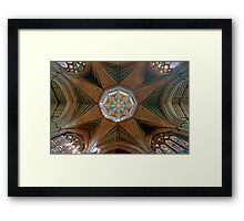 The Octagonal Lantern with Windows, Ely Cathedral Framed Print