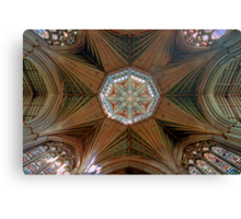 The Octagonal Lantern with Windows, Ely Cathedral Canvas Print
