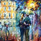 City Rain — Buy Now Link - www.etsy.com/listing/212464062 by Leonid  Afremov