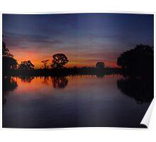 Pantanal Sunset 4 Poster