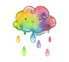 Whimisical Rainbow Showers by beaglecakes