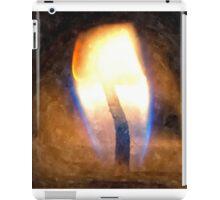 Festive candle light flame iPad Case/Skin