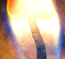 Festive candle light flame Sticker