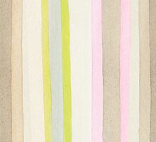 Striped watercolor background by Babarobot