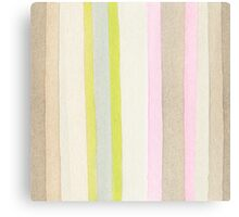 Striped watercolor background Canvas Print